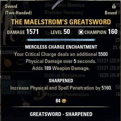 The Maelstroms Greatsword