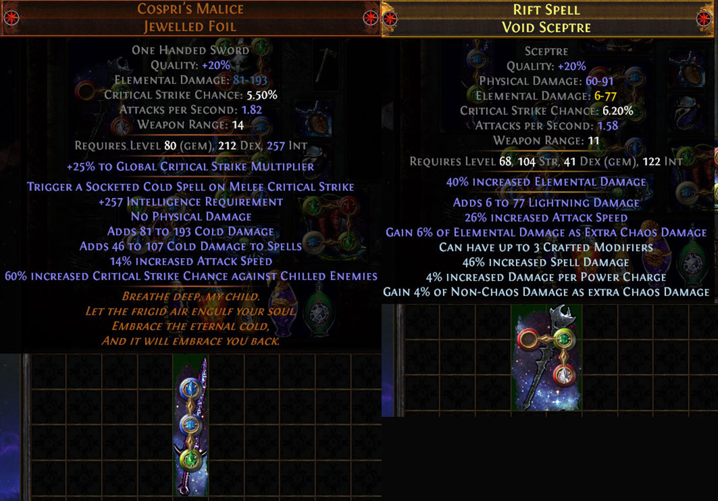PoE 3.10 Delirium CoC Assassin Weapons