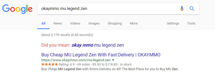 google search okaymmo mu legend zen