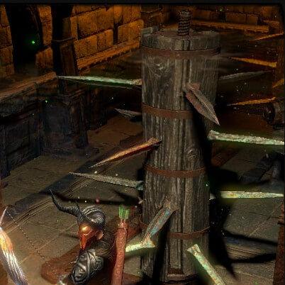 poe poelab Spinning Pillars