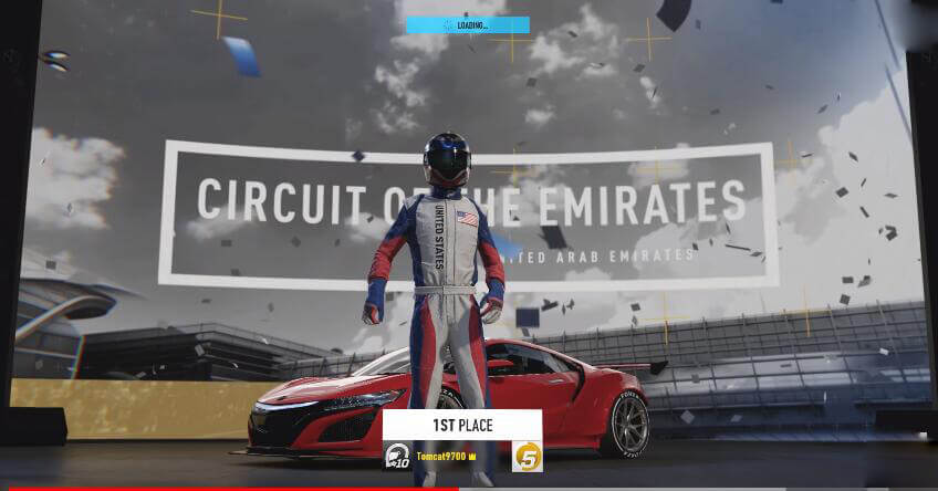 you won the track day
