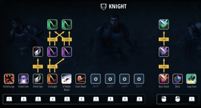 crowfall first look  knight powers and ui