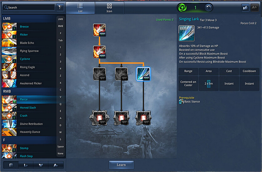 okaymmo:Blade and Soul Skill Trees