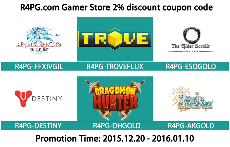 2% Discount Coupon Code To Buy Hot online game Service At R4PG.com