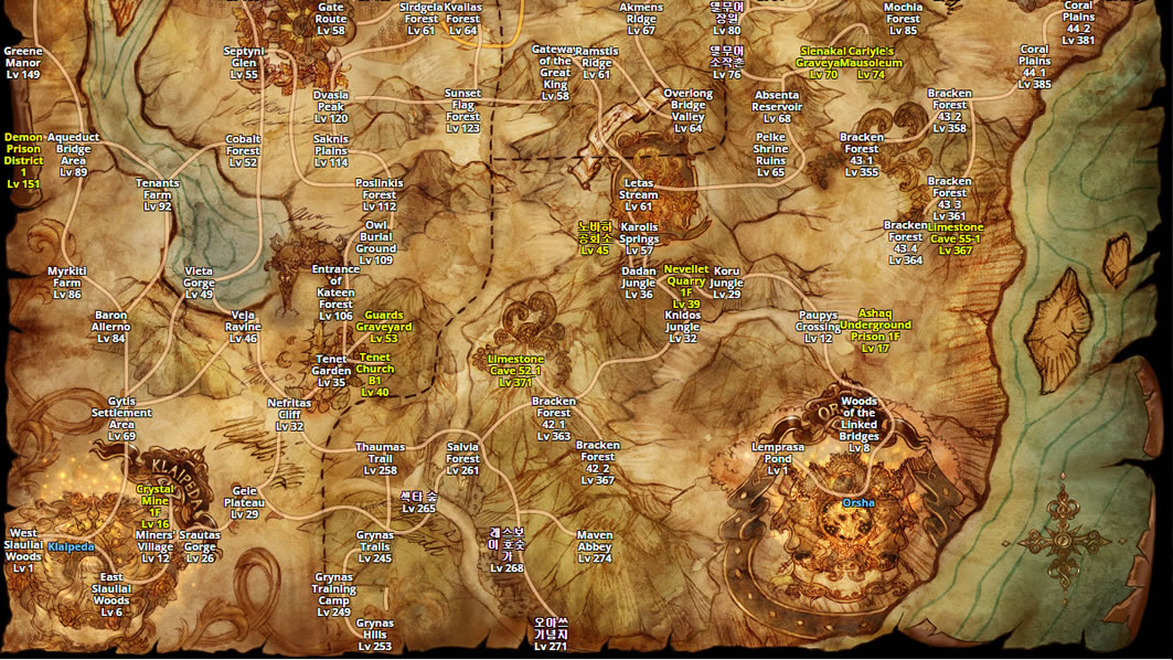 Tree Of Savior Online World Map
