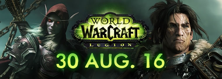 okaymmo:World of Warcraft Legion to Launch on August 30th