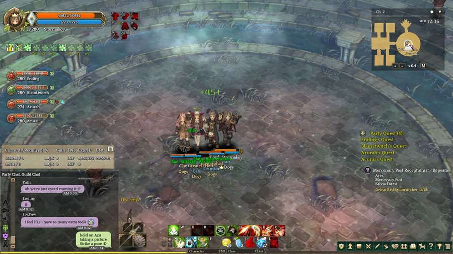 r4pg:Tree of Savior World First Level 280s