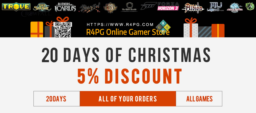 R4PG 5% Coupon Code for Christmas and New Year