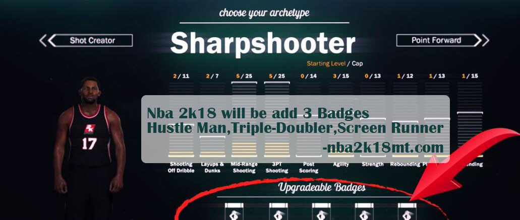 3 Badges will add to nba 2k18