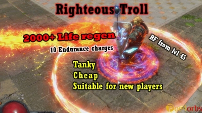 how to do righteous troll build in path of exile 2 5 x patch