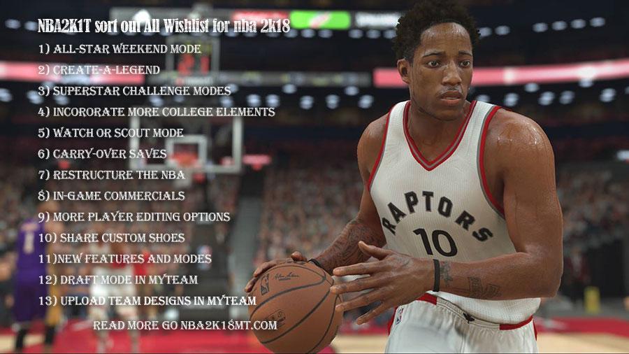 NBA2K18MT sort out All Wishlist for nba 2k18