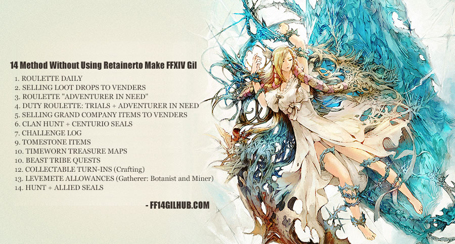 FF14GILHUB Gamer : Without Using Retainerto Make FFXIV Gil