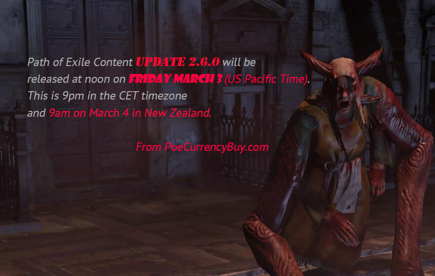 Path of Exile Content Update 2.6.0 Balance Changes