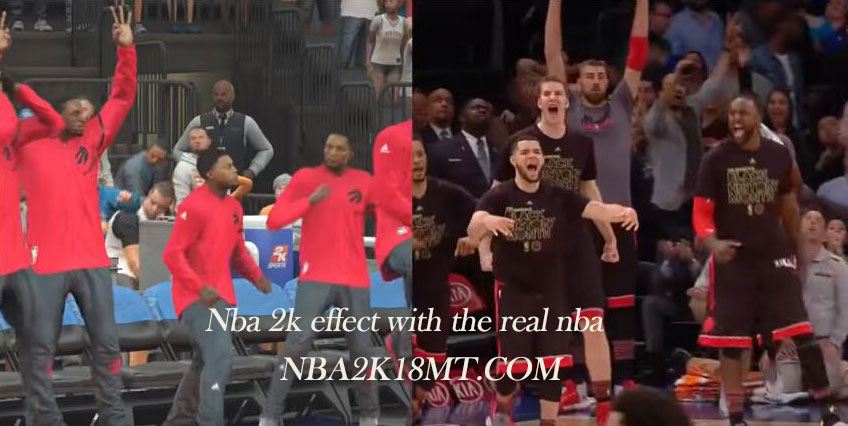 Nba 2k effect with the real nba