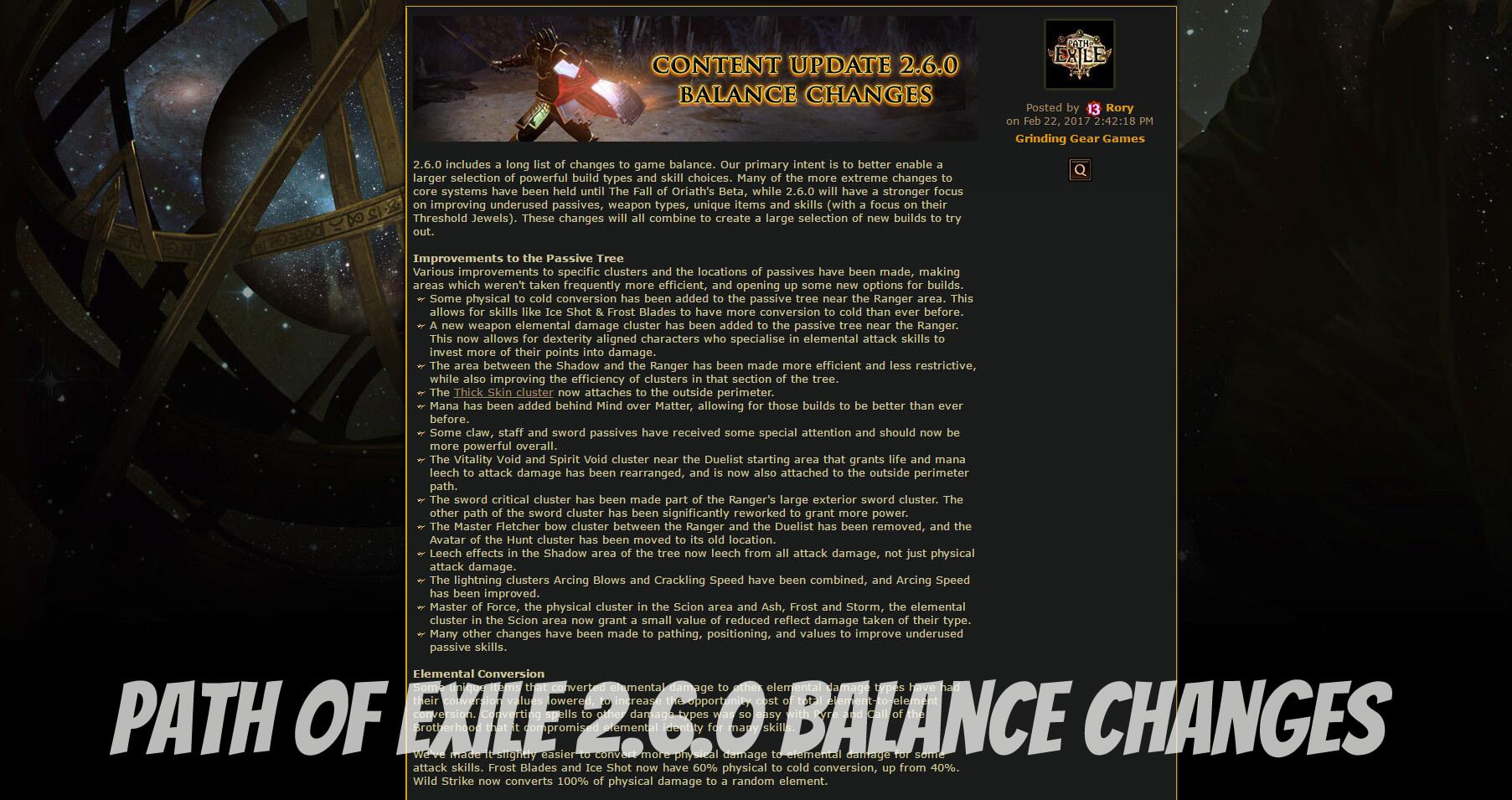 Path Of Exile 2.6.0 Balance Changes