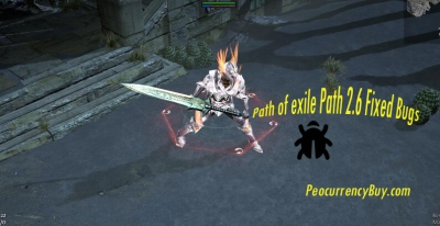 Path of exile Path 2.6 Fixed Bug