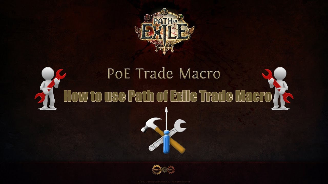How to use Path of Exile Trade Macro