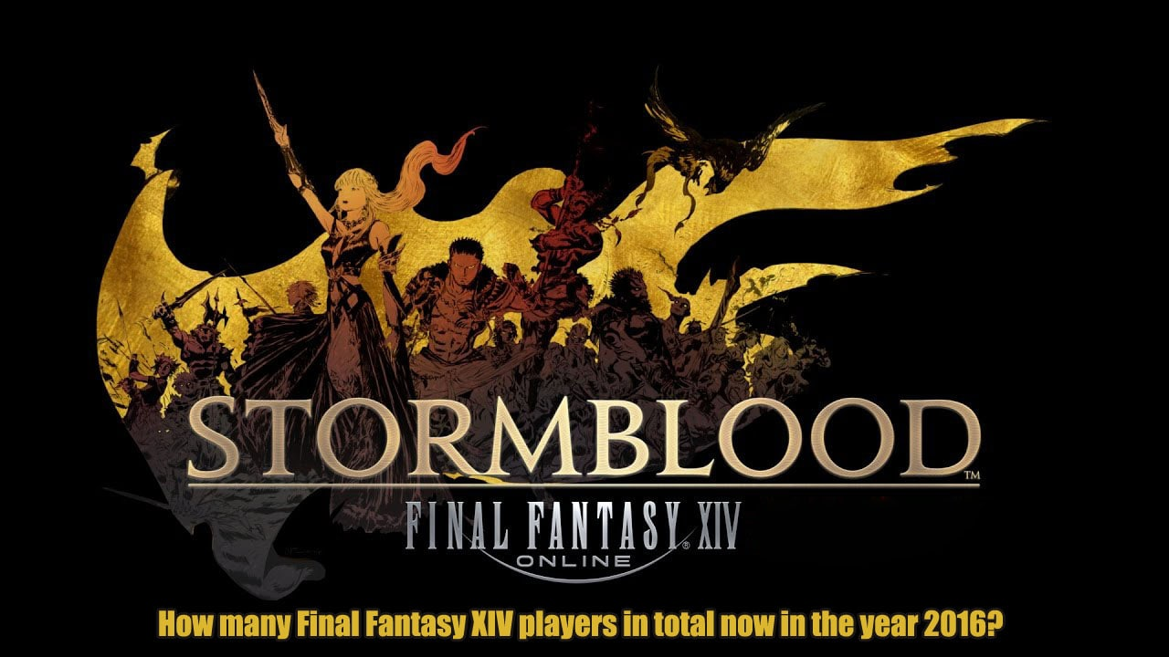 How many Final Fantasy XIV players in total now in the year 2016?