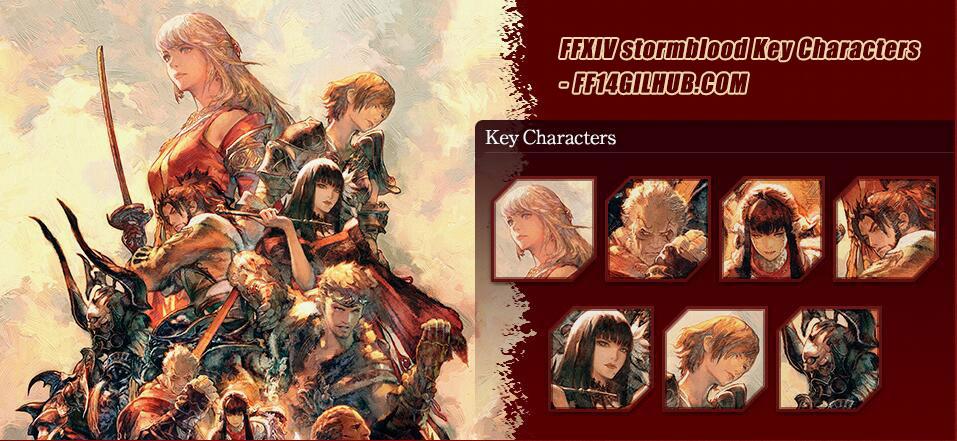 ffxiv stormblood Key Characters