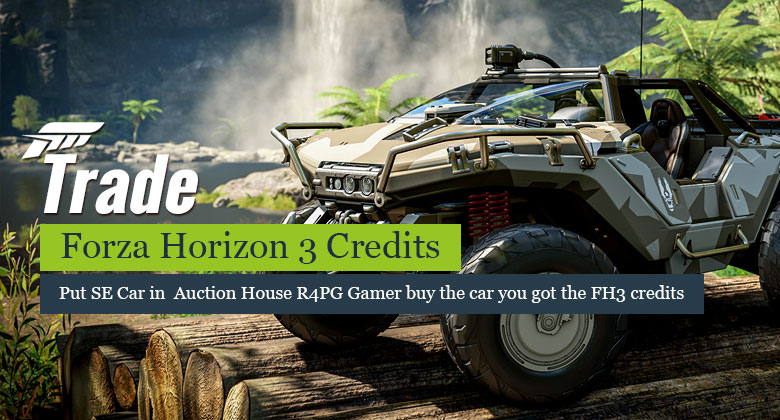 How to trade Forza Horizon 3 Credits