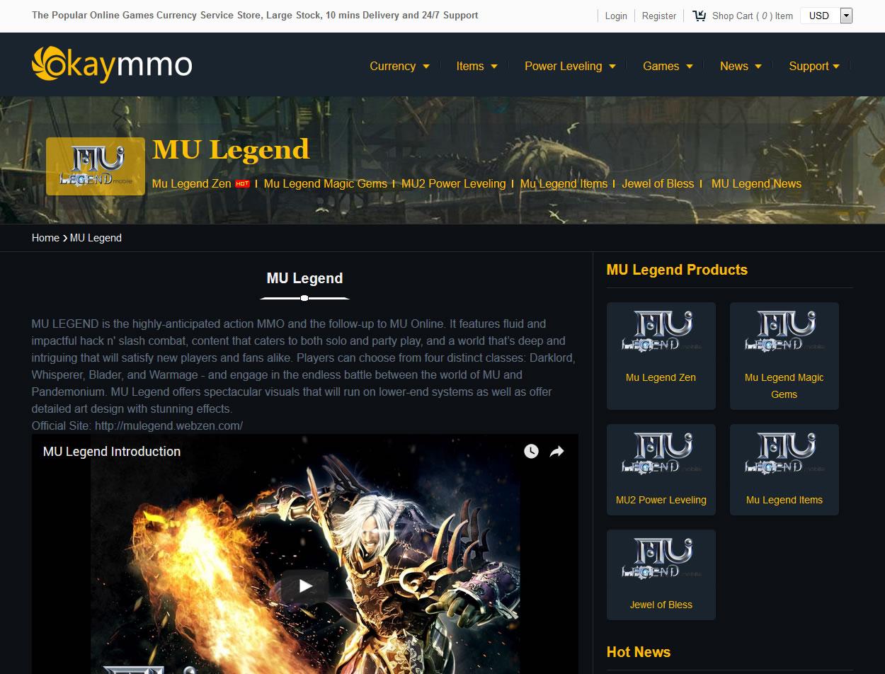 About MU Legend Facebook update and Okaymmo MU legend Team