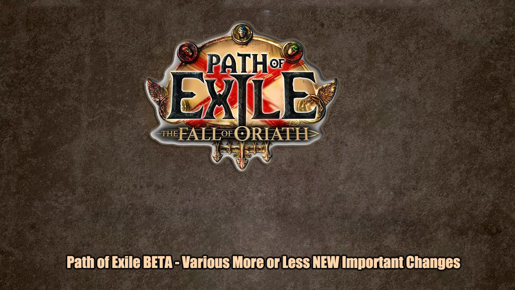 Important Changes Made To Path Of Exile Beta