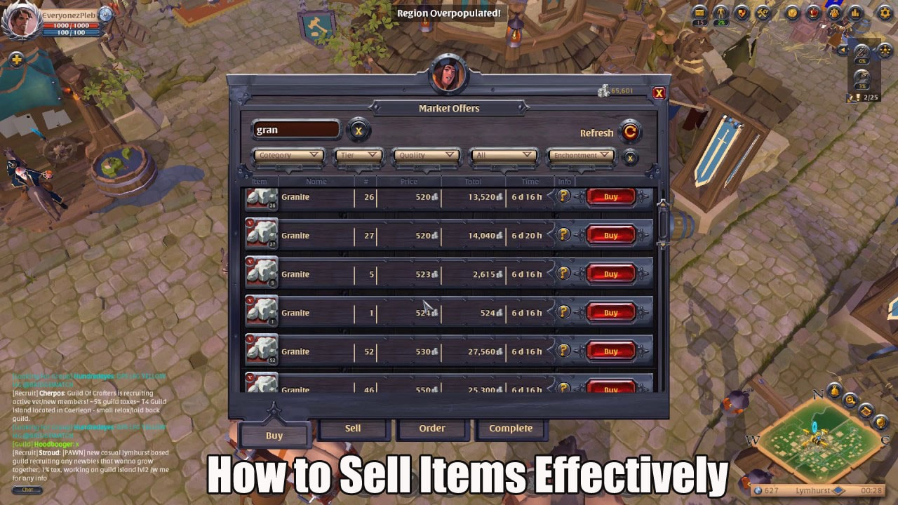 Selling Items The Right Way In Albion Online