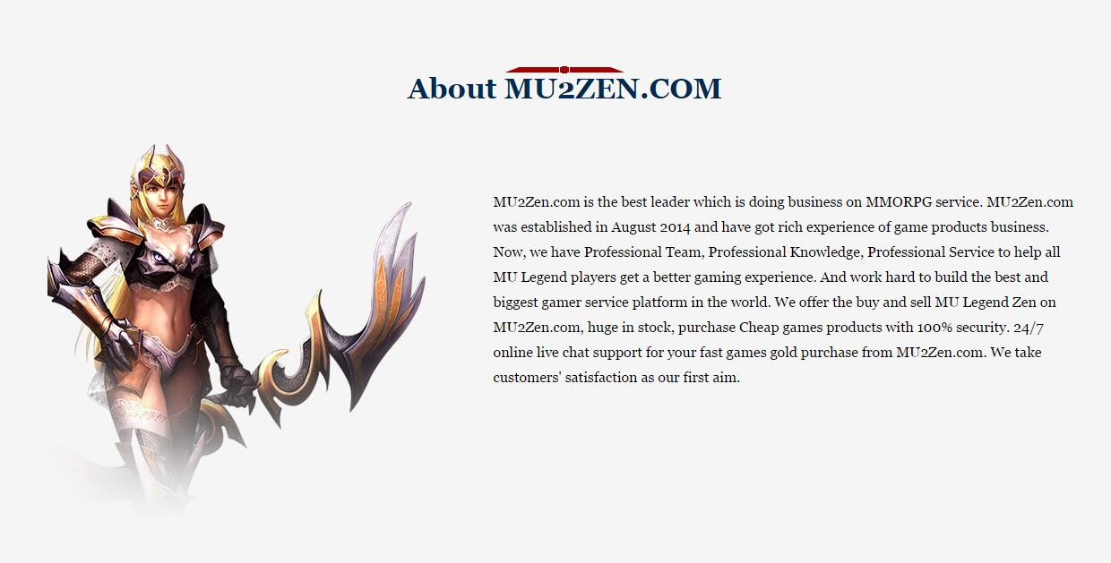 Be At The Top Of World With Buy Mu Legend Zen