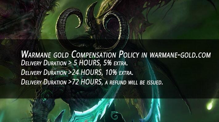 Warmane gold Compensation Policy in warmane-gold.com