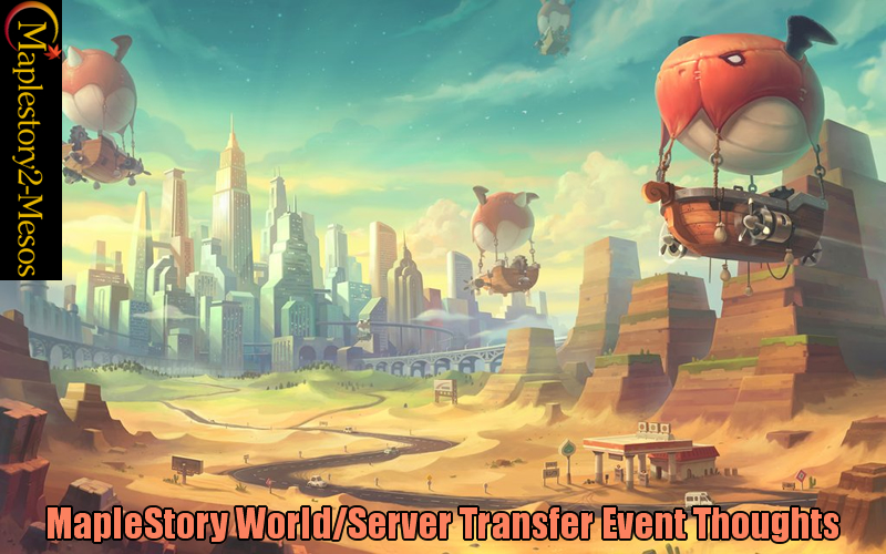 MapleStory World/Server Transfer Event Thoughts