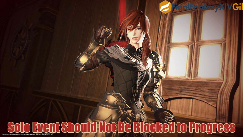 Solo Event Should Not Be Blocked to Progress in FFXIV
