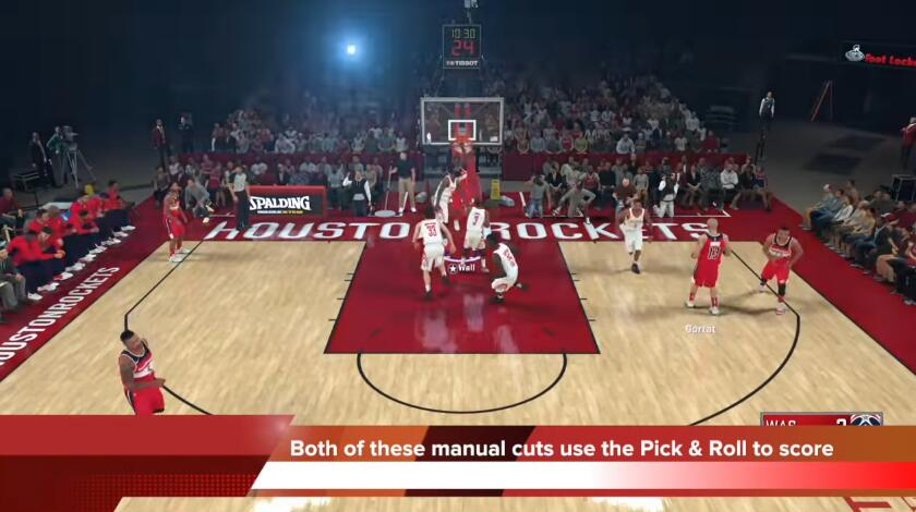 The best way to pull off the pick and roll move in NBA 2K18