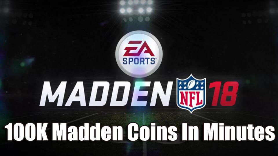100K Madden Coins In Minutes