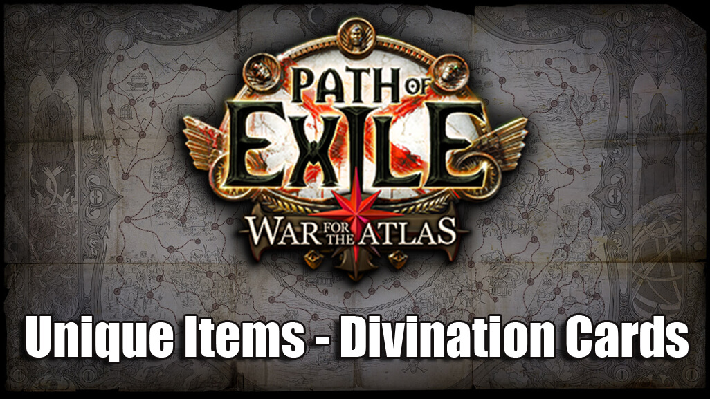 New Unique Items and Divination Cards Coming To Path Of Exile 3.1