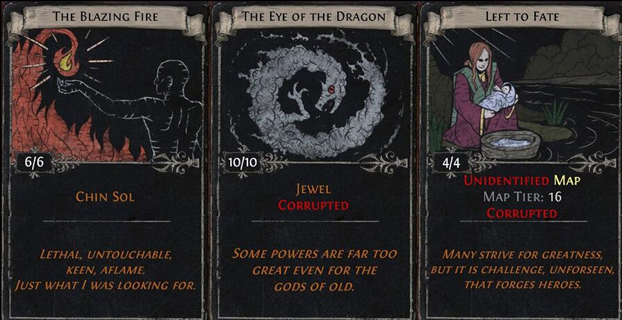 Upcoming Divination Cards and Unique Items in the War for the Atlas