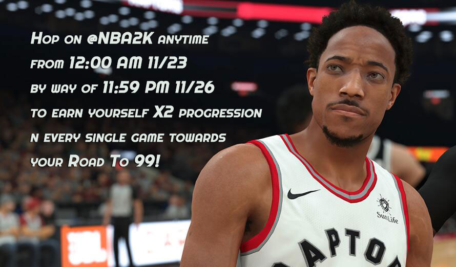 Nba 2k18 is going to be hosting double reputation points among now and November 26th