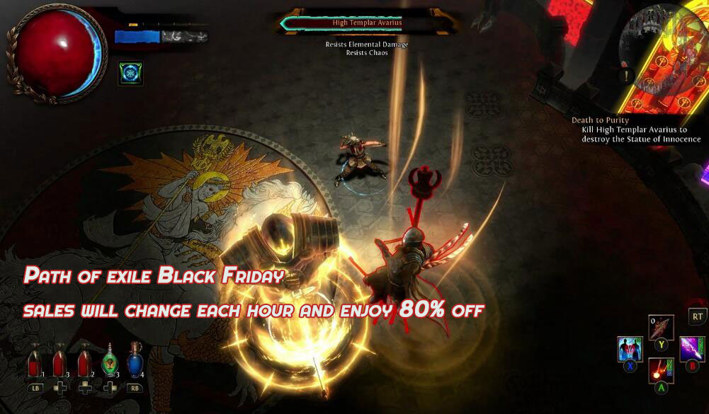 Path of exile Black Friday sales will change each hour and enjoy 80% off
