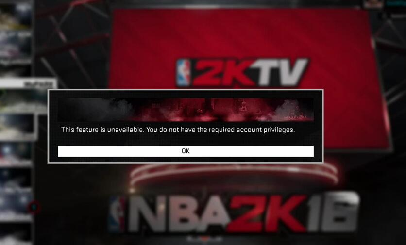"Solve Xbox Nba 2k18 Error ""You do not have the required account privileges"""