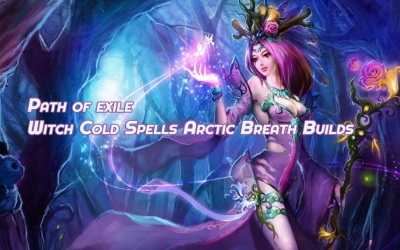 What's the most efficient Path of exile Witch Cold Spells Arctic Breath Builds