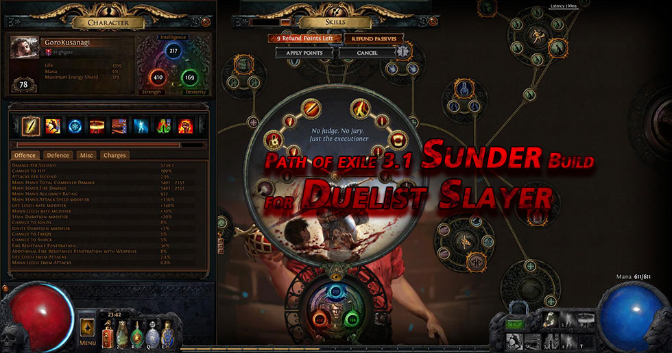 Path of exile 3.1 Sunder Build for Duelist Slayer