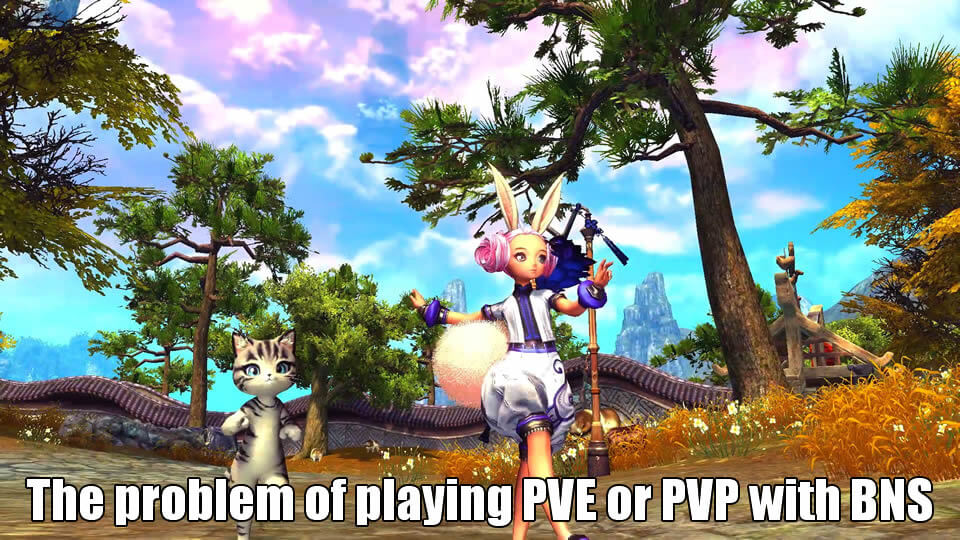 The problem of playing PVE or PVP with Blade and Soul Class Choose