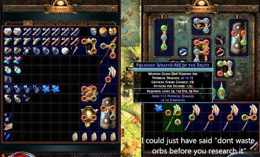 "The best way to Decide on Crafting or ""rolling"" an Path of exile item"