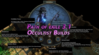Path of exile 3.1 Occultist Builds