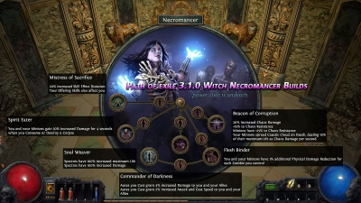 Path of exile 3.1.0 Witch Necromancer Builds