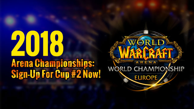 2018 Arena Championships:Sign-Up For Cup #2 Now!