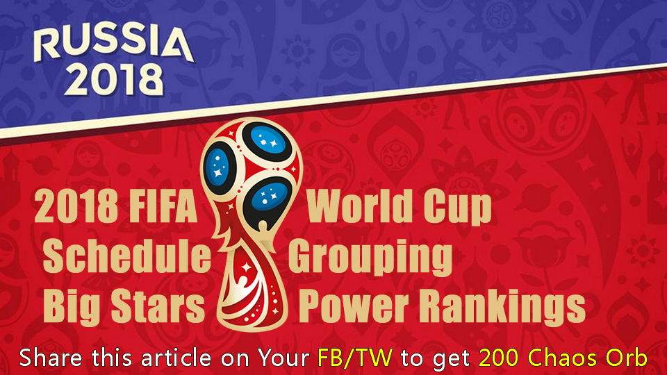 FIFA World Cup Schedule, Grouping, Big Stars and Power Rankings