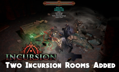 Path of Exile 3.3.1: Two Incursion Rooms Added