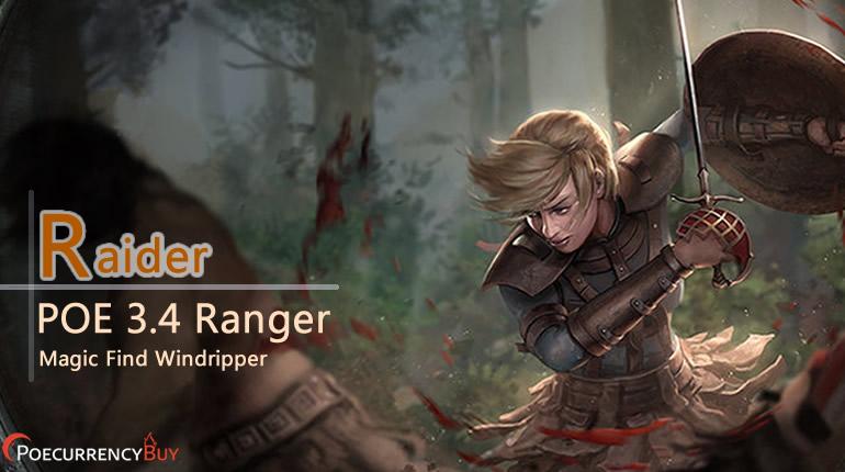 POE 3 4 Ranger Barrage Raider Build - Magic Find Windripper