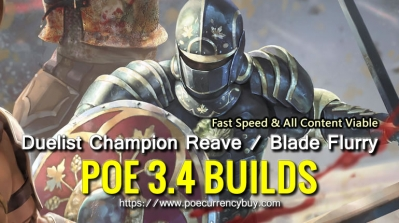 POE 3.4 Duelist Champion Reave / Blade Flurry Build - Fast Speed & All Content Viable
