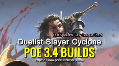 POE 3.4 Duelist Slayer Cyclone Build - Fast Speed & Easy League Start